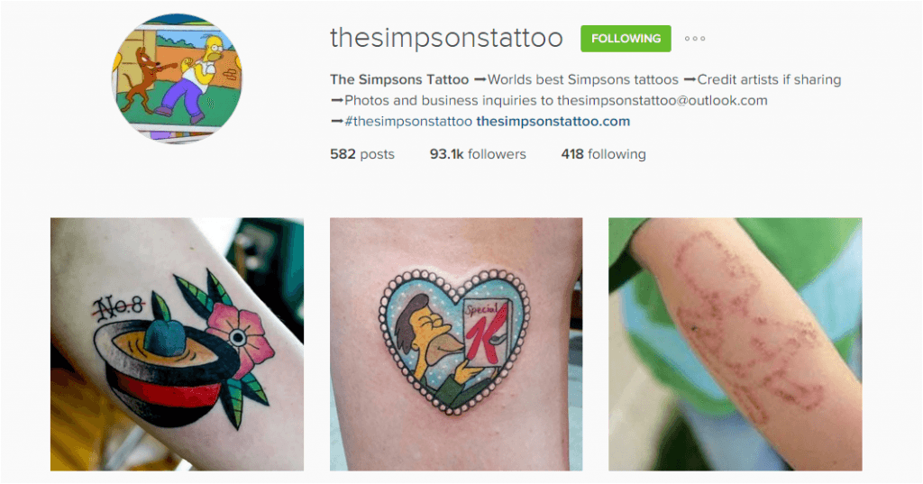 thesimpsonstattoo